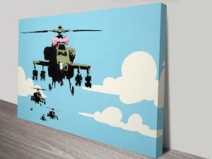Happy Copters Banksy Artwork on Canvas