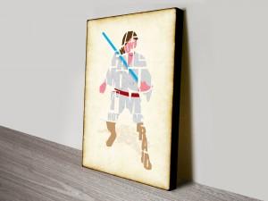 Luke Skywalker Typographic