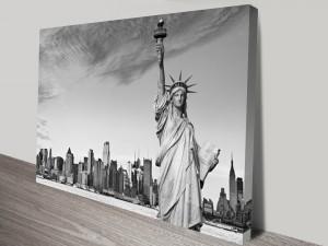 Under Watchful Eyes of Liberty Photo Art Print