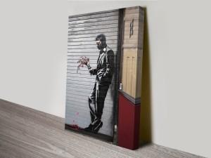 Waiting in Vain Banksy Artwork on Canvas