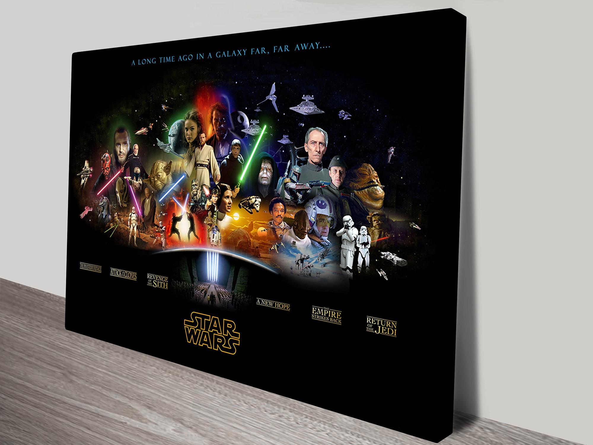 Star Wars Characters Art Canvas Prints Australia