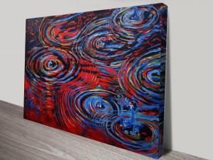 Abstract Raindrops Canvas Print Australia