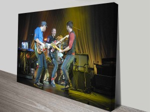 Coldplay Performing at Nissan Live Sets Music Framed Print