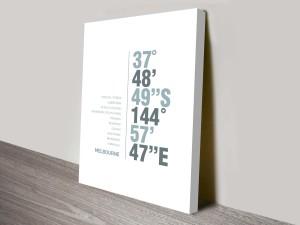 Melbourne White Coordinates Decorative Places Print