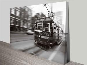 flinders street melbourne tram wall art canvas