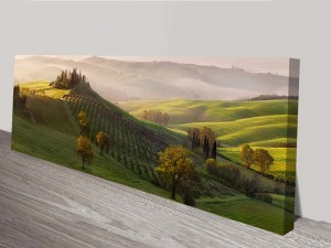 french vineyard panoramic wall art print on canvas australia