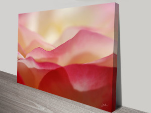 a mountain of roses canvas wall art
