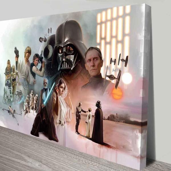 Star wars original cast on canvas print australia - Lustre star wars ...