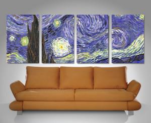 starry night quad panel