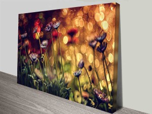 magical flowers photo to canvas print