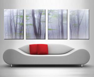 dream trees 4 panel custom wall art