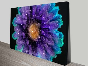 crystallized flowers custom photo canvas art