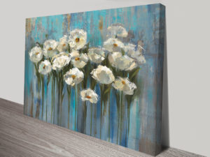 Anemones by the Lake Wall Art Print