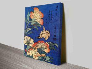 Flowers Traditional Japanese Art By Hokusai