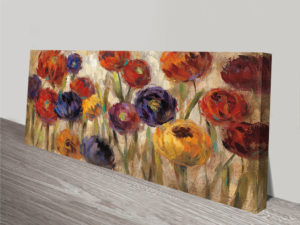 Asters and Mums Wall Print on Canvas
