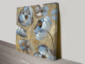 Flowers in Dusk II Abstract and Contemporary Wall Art Print