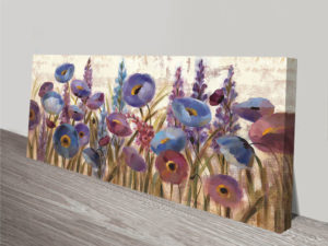 Lupines and Poppies Wall Art on Canvas Print