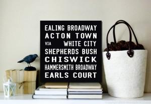 Ealing Broadway Tram Scroll