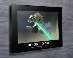 Yoda motivational Poster