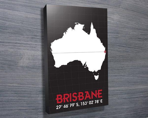 Brisbane Coordinates art