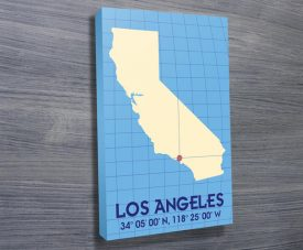 Los Angeles Coordinates art