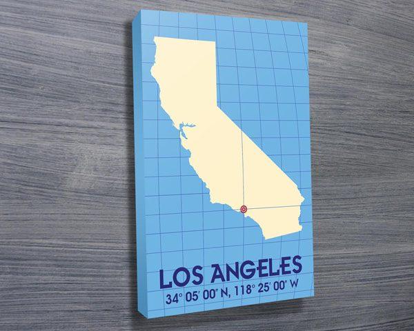 Los Angeles Coordinates art