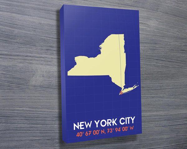 New York Coordinates art