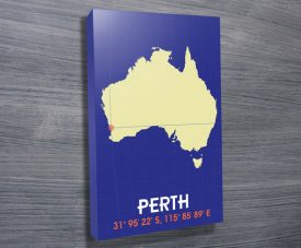 Perth Coordinates Artwork