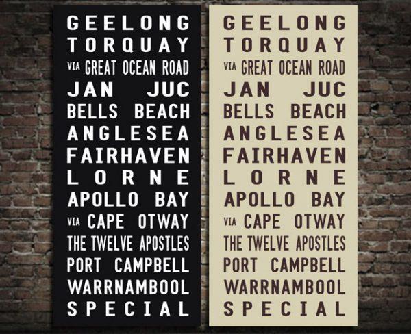 Geelong Tram Scroll Print
