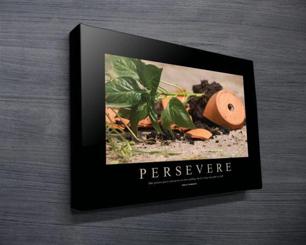 Persevere Motivational Business Art