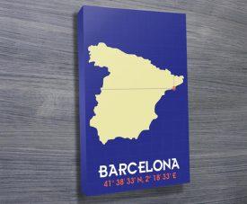 barcelona coordinates art