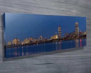 Boston Skyline canvas artwork.