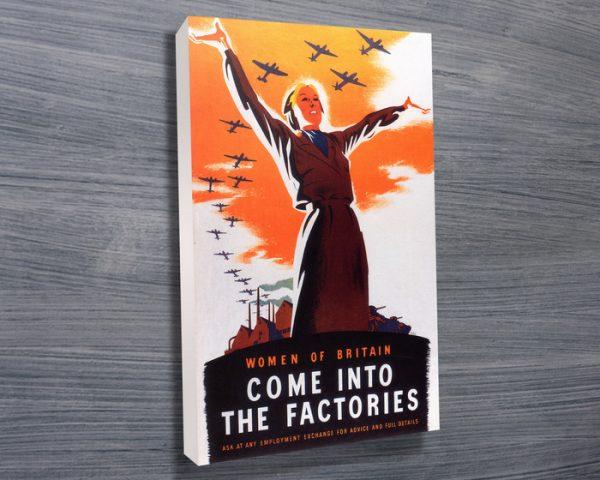 Women of Britain Wartime British Propaganda Poster