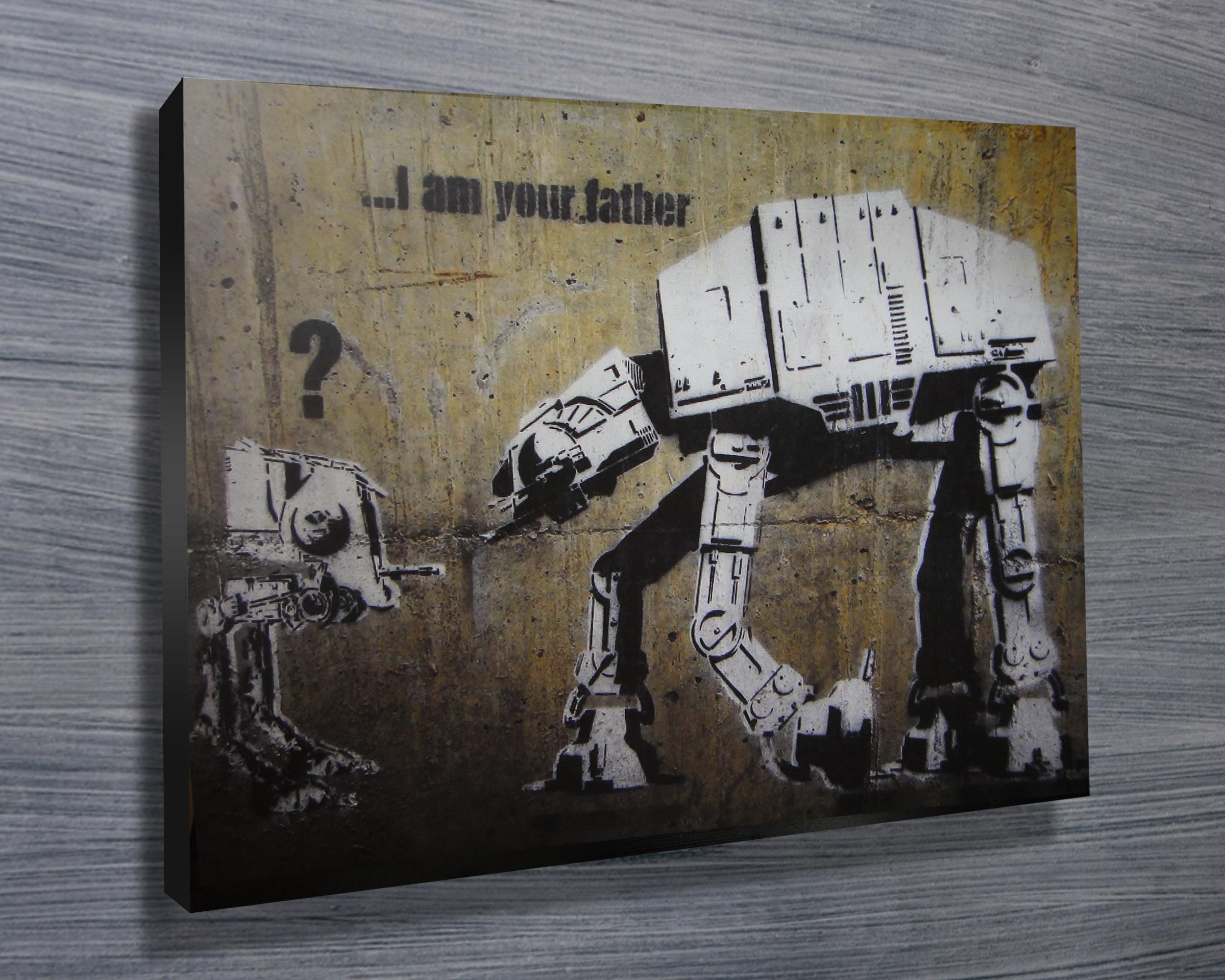 Graffiti art for sale australia - Banksy Star Wars Print