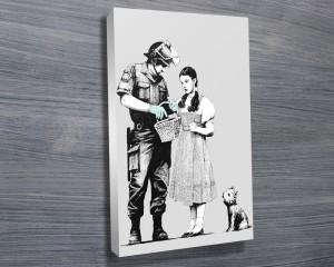 banksy canvas art for sale