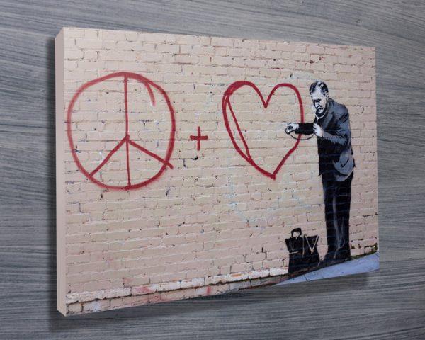 banksy peaceful hearts