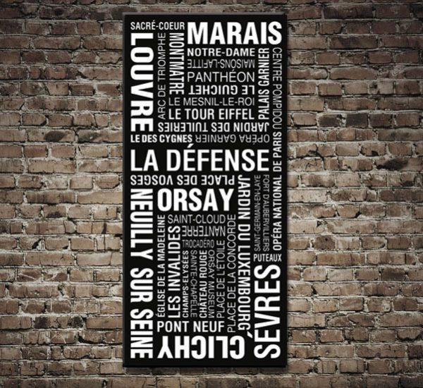 Paris Metro Sign Art