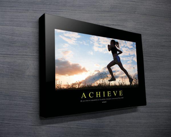 Achieve Motivational Canvas Poster Print AU