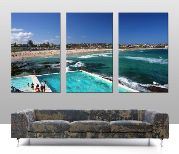Buy Bondi Icebergs Split Panel Canvas Wall Art