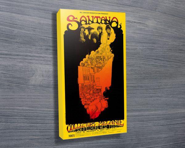 Santana, Greg Irons Vintage Concert Poste