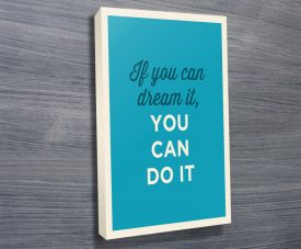 Motivational Canvas Word Art