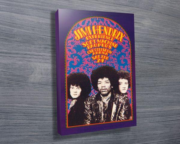 Jimi Hendrix Experience Concert Poster Wall Art