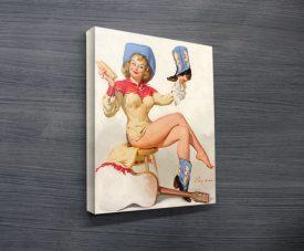 pin girl vintage poster