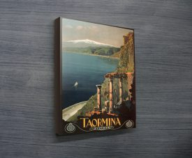 Taormina Travel Poster Canvas Prints Australia