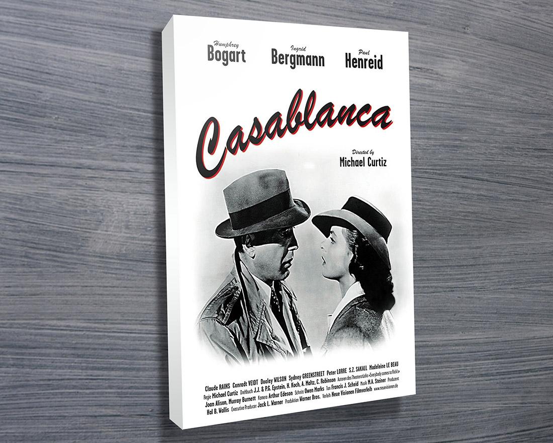 Casablanca Movie Poster - Canvas Prints Australia