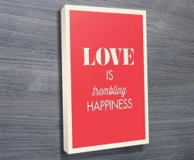 Love typographic canvas artwork