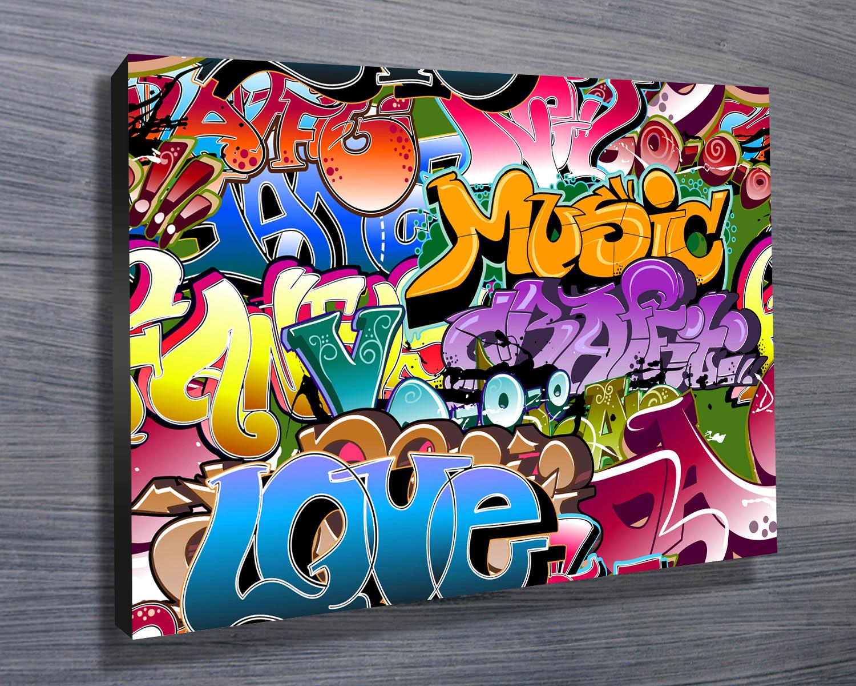 Graffiti Pop Art Canvas Prints Australia