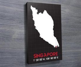 Singapore Coordinates art