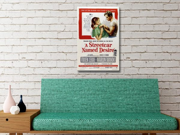 A Streetcar Named Desire Movie Poster Canvas Wall Picture Artwork