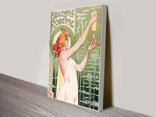 Absinthe Vintage Poster Artwork on Canvas